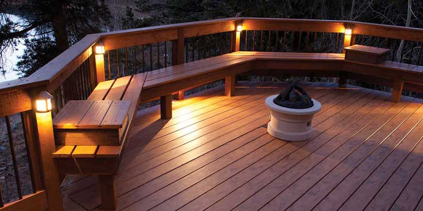 Highpoint deck lighting railing fixtures