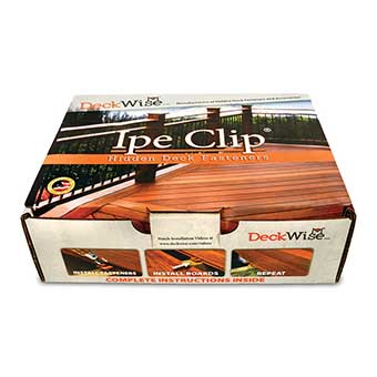 Deckwise Ipe Clips with Plugs