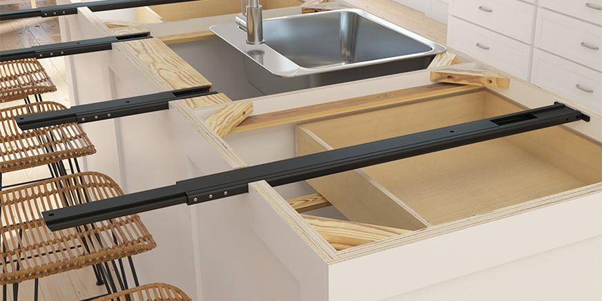 Rock Solid Brackets Countertop Support Arms