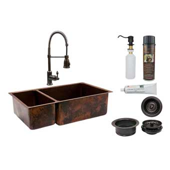 Premier Copper Products Drop-In Kitchen Sinks