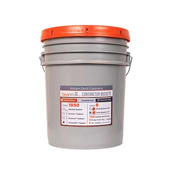 DeckWise Contractor Bucket | Hidden Fasteners