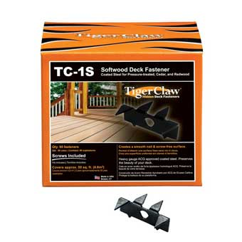 TigerClaw TC-1S Deck Fasteners for Softwood Decking