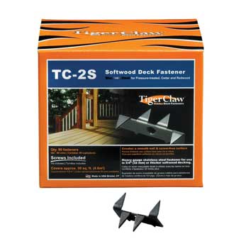 TigerClaw TC-2S Deck Fasteners for Softwoods