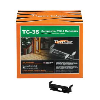 TigerClaw TC-3S Deck Fasteners for Composite Decking
