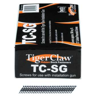 "TigerClaw TC-G Deck Fasteners for 1"" Grooved Decking"