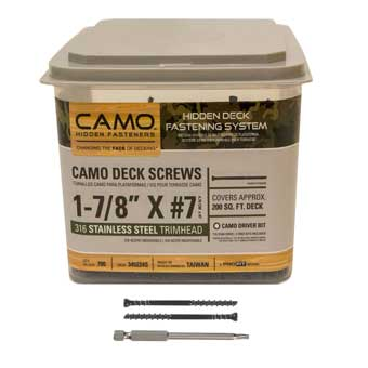 Shop camo deck fasteners for 200 sq ft deck