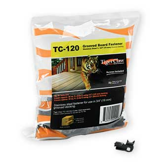 "TigerClaw TC-120 Deck Fasteners for 3/4"" Grooved Decking"