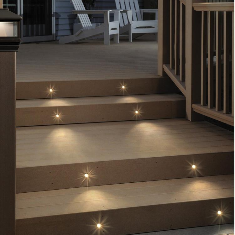 Trex Stair Light: Recessed LED Lighting Kit - 8 Pack