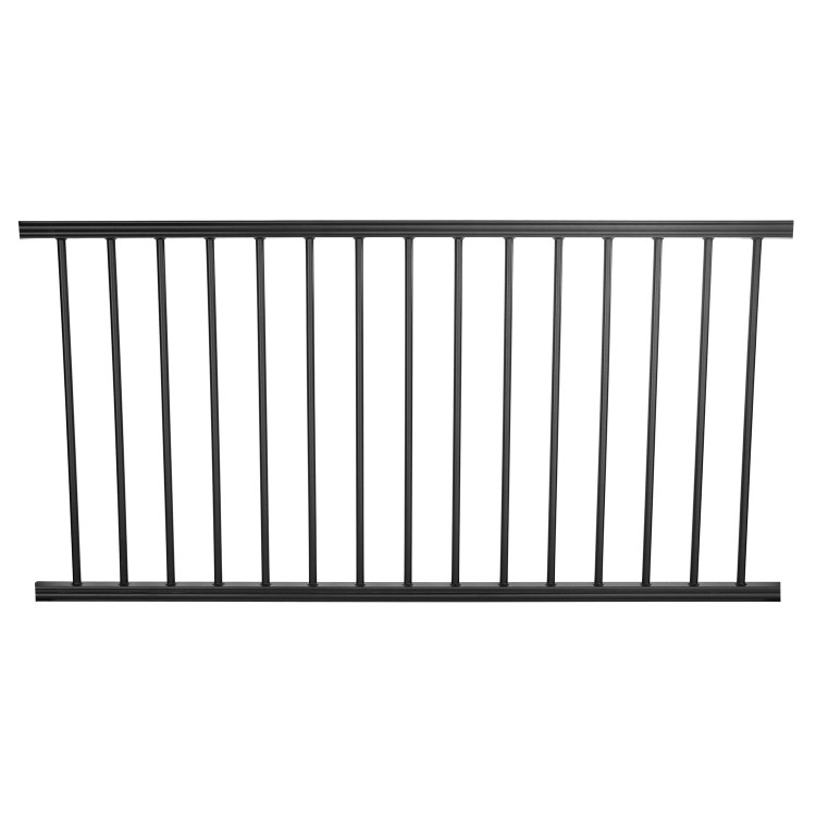 ALX Preassembled Classic Aluminum Railing Kit with Estate Balusters