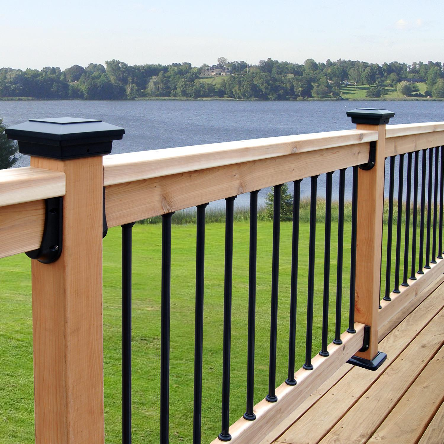 Smooth Balusters 5 Pack previously Bronze 26-inch by 3//4-inch Aluminum Square Charcoal Gray