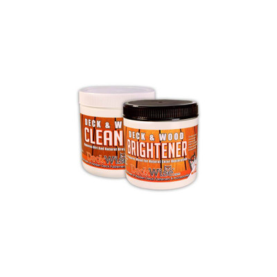 Wood and Deck Cleaner Part 1 and Brightener Part 2 Bundle