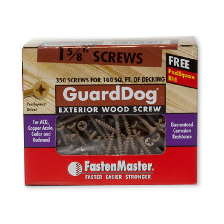 GuardDog Exterior Wood Screw Box of 350 FastenMaster
