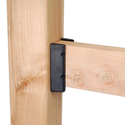 Fortress 2x4 Black Nylon Deck Rail