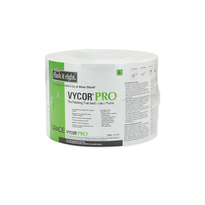 "Vycor Pro Self-Adhering Butyl Flashing - 4"" x 75' Roll"