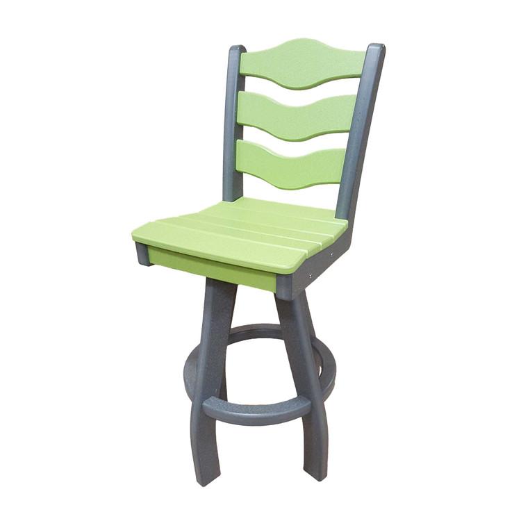 Traditional Swivel Bar Height Chair