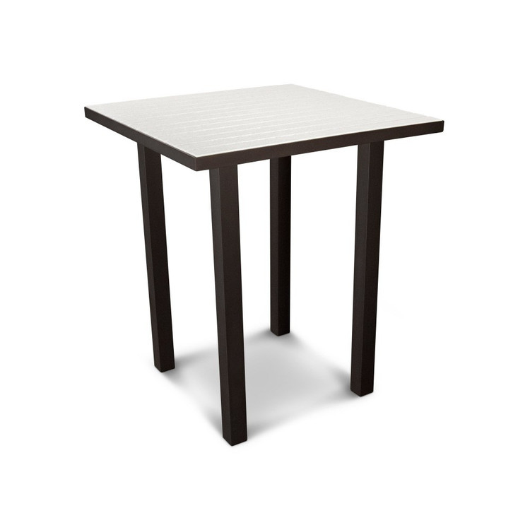 "POLYWOOD Euro 36"" Square Bar Table"