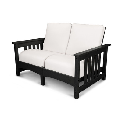 POLYWOOD Mission Black Settee