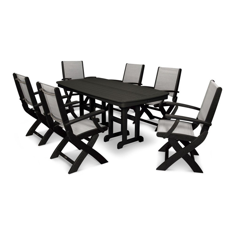 POLYWOOD Coastal 7 Piece Dining Set