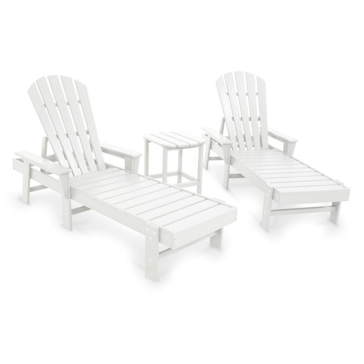 POLYWOOD South Beach White Chaise