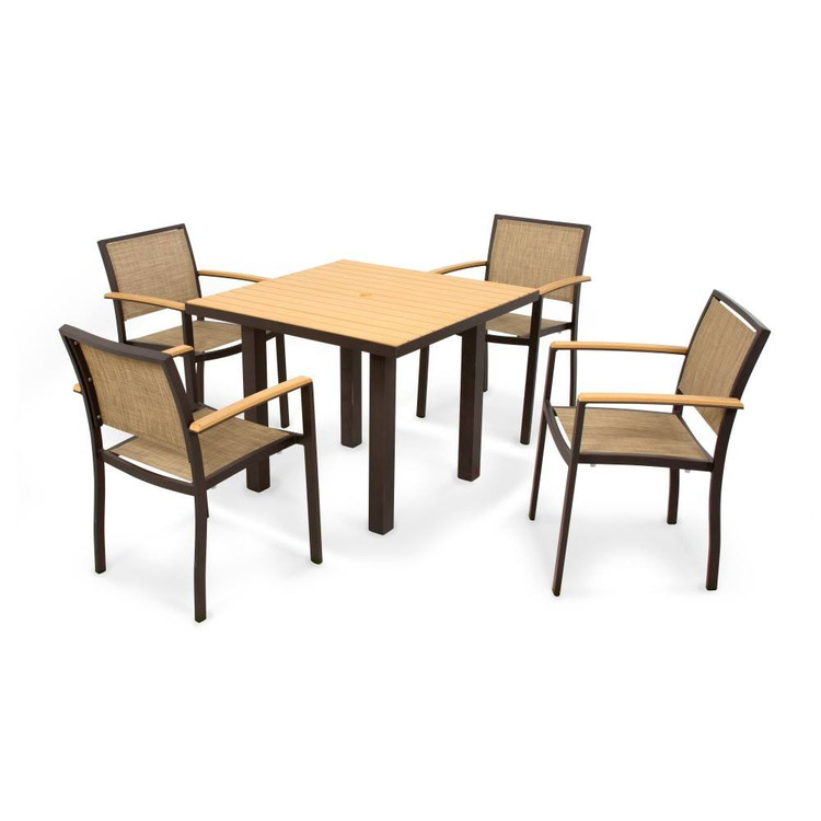 POLYWOOD Bayline 5 Piece Dining
