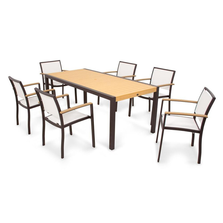 POLYWOOD Bayline 7 Piece Dining