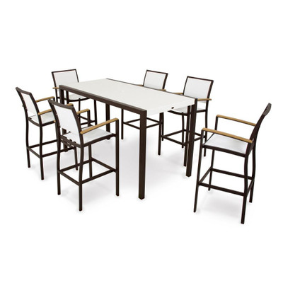 POLYWOOD Bayline 7 Piece Bar Set