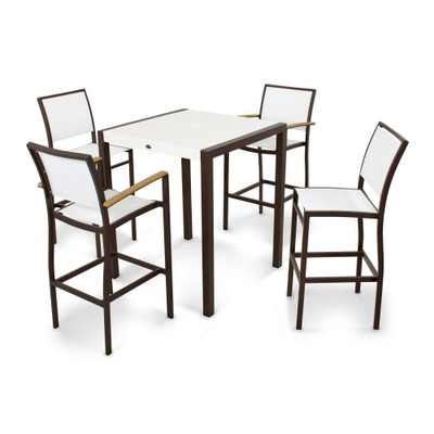 POLYWOOD Bayline 5 Piece Bar Set