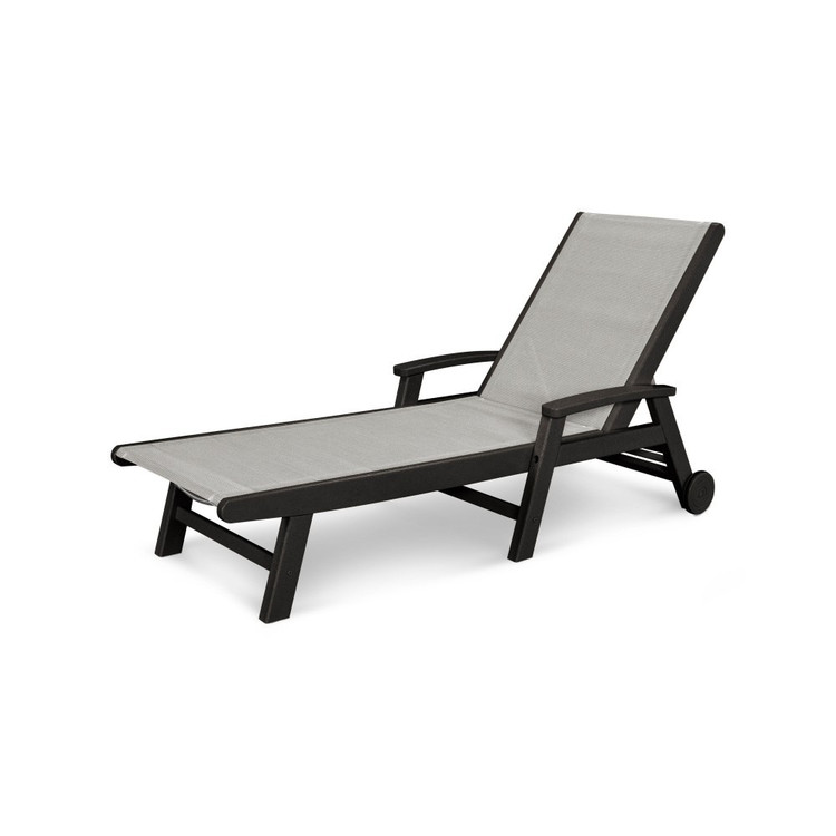 POLYWOOD Coastal Wheel Chaise
