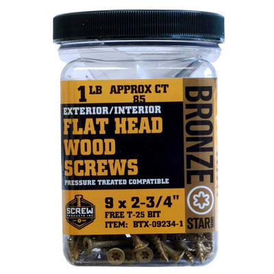Screw Products Bronze Star #9
