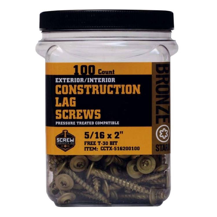 "Screw Products Bronze Star 5/16"""