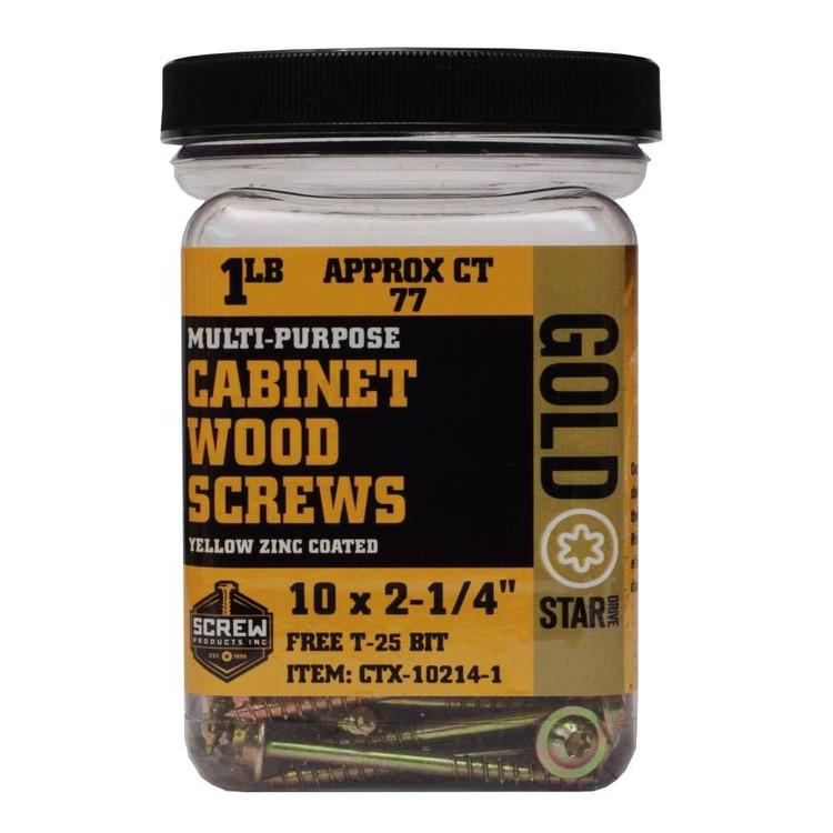 Gold Star 10 Cabinet Screws 1lb Jar Screw Products