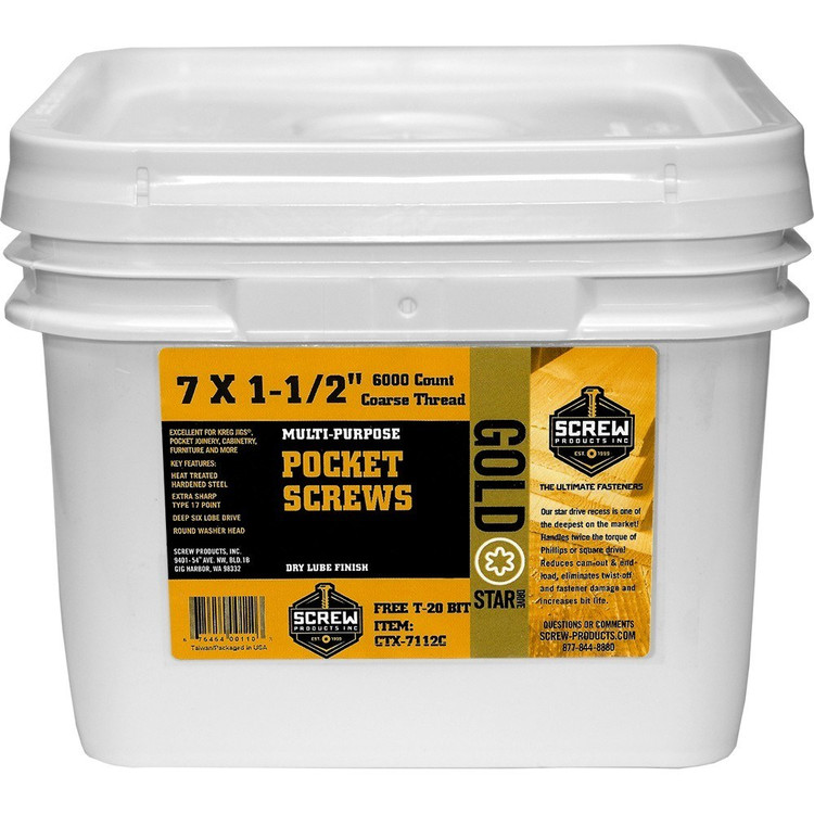 Screw Products Gold Star Drive #7