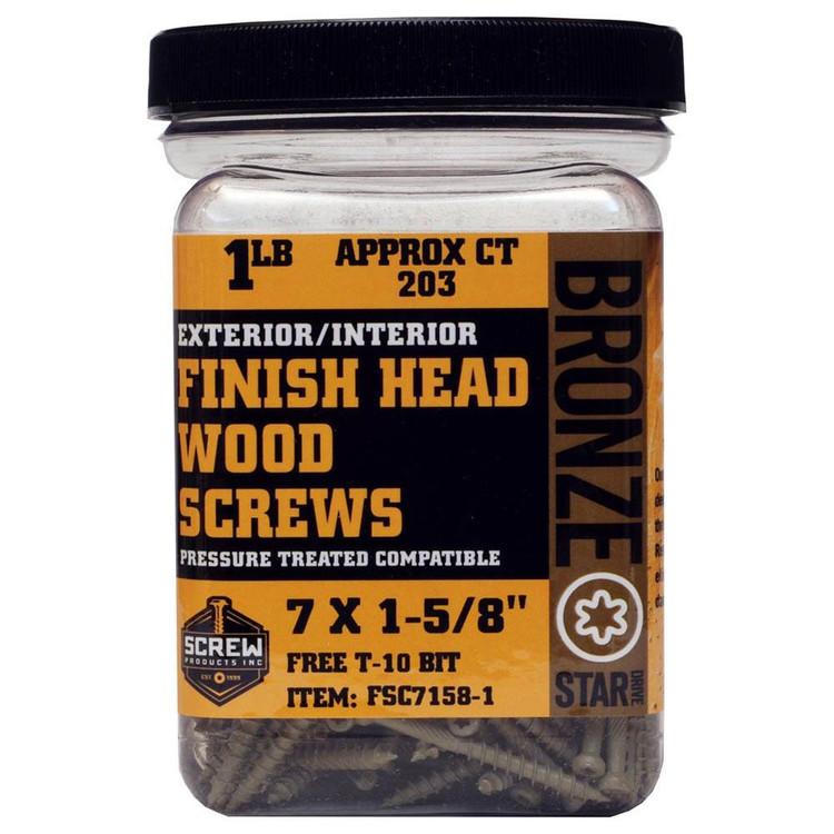 Screw Products Bronze Star #7