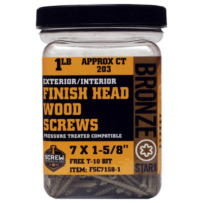 Screw Products Bronze Star #7