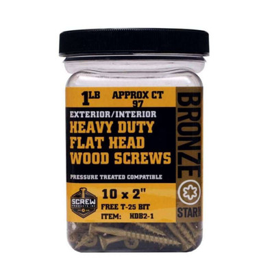 Screw Products Bronze Star #10