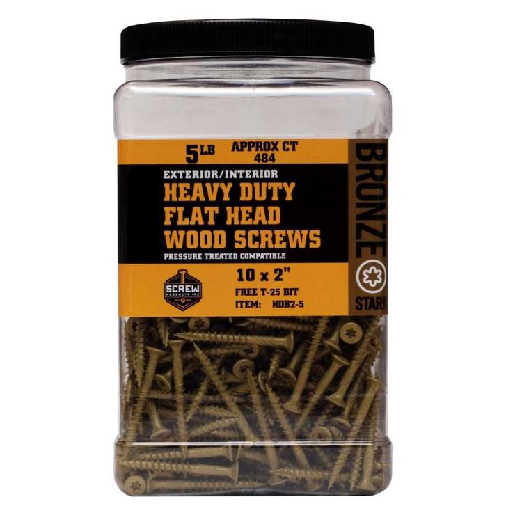 Screw Products Bronze Star #10