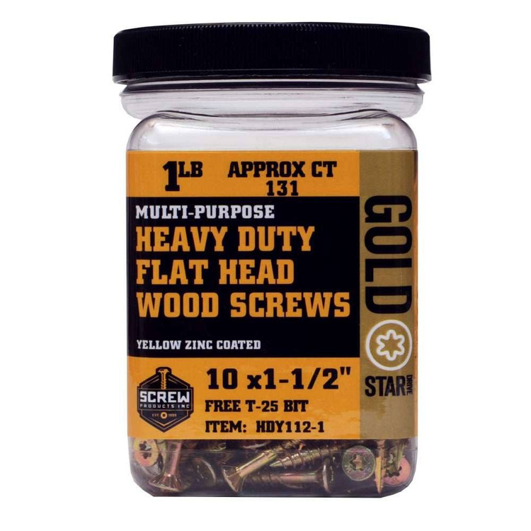 Screw Products Gold Star #10 Heavy