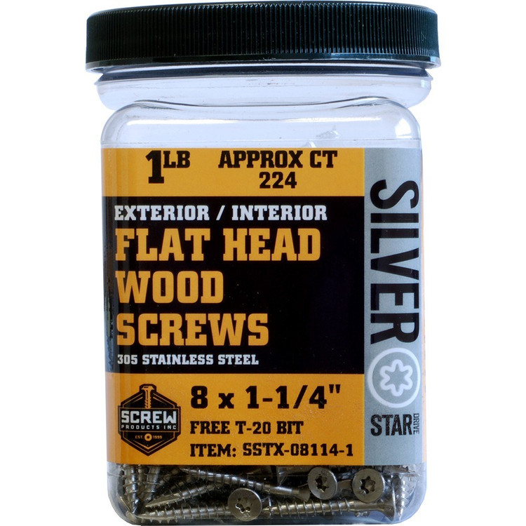 Screw Products Silver Star #8