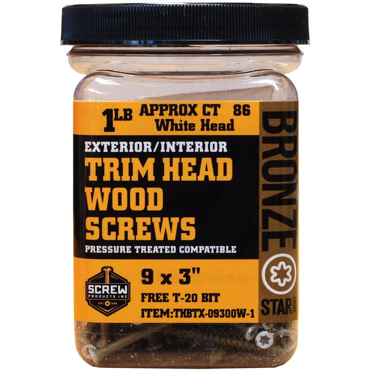 Screw Products Bronze Star #9