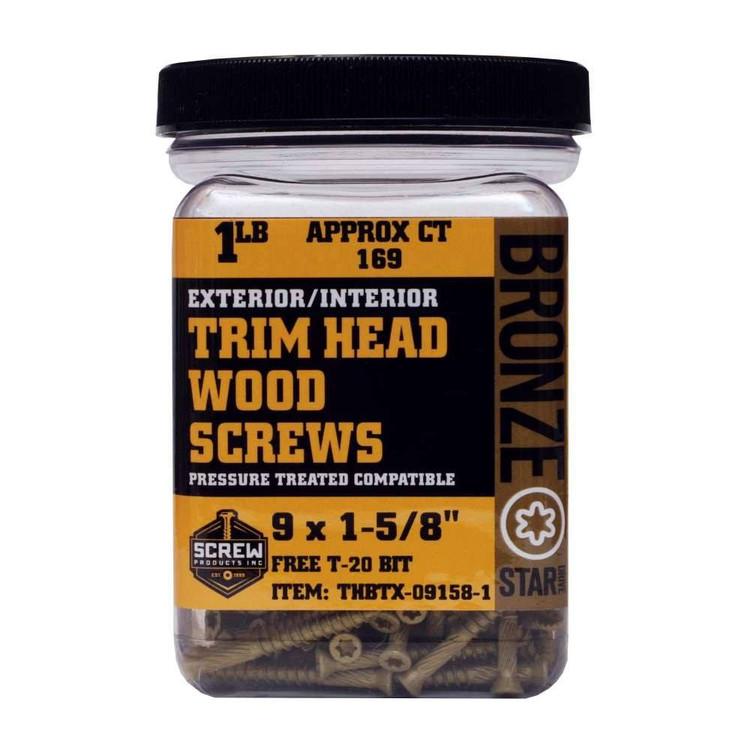 Screw Products Bronze Star #9 Trim