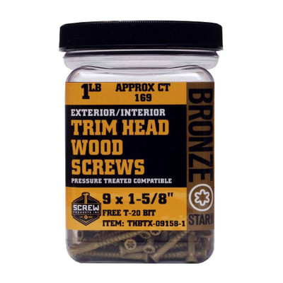 Screw Products Bronze Star #9 Trim