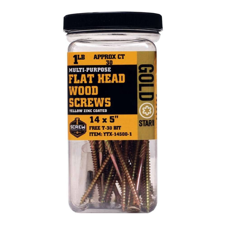 Screw Products Gold Star #14 Extra