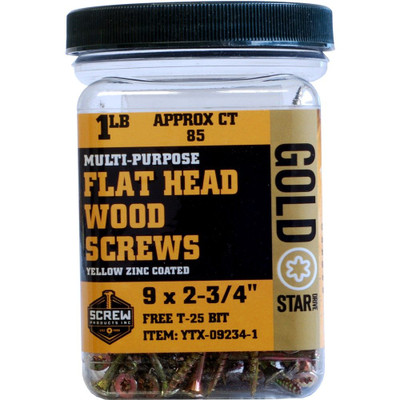 Screw Products Gold Star #9