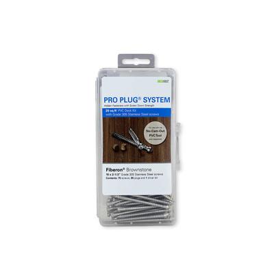 Pro Plug System for Fiberon Decking - 20 Square Feet