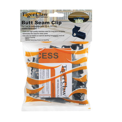 Butt Seam Clip For Use With TC-G Installations - Bag of 55 with Screws