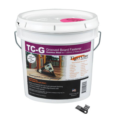 Bucket of 900 Tiger Claw TC-G Fasteners - No Screws