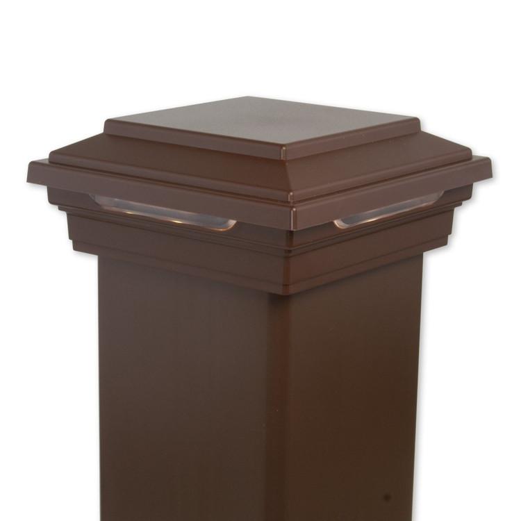 decklighting led flat post cap 4x4 trex. Black Bedroom Furniture Sets. Home Design Ideas