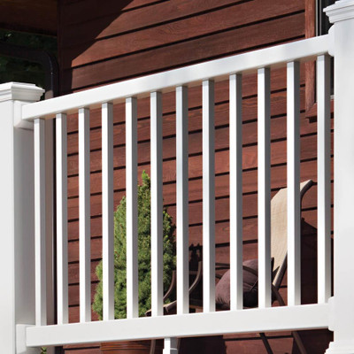 Select Classic White Rail Kit with Square Balusters - 6' x 36""