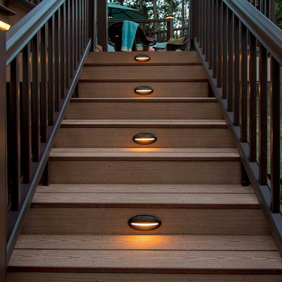 Decklites Led Riser Light Bronze