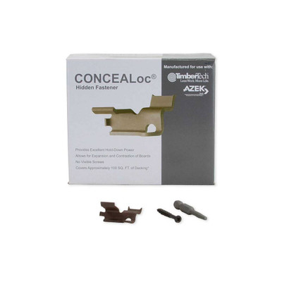 CONCEALoc Fasteners with Screws - Box of 175